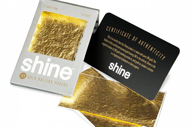 Shine two gold sheet | 1/4 SIZE